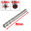 6.5mm High Speed Steel Straight Shank 4 Flute End Milling Cutter ...