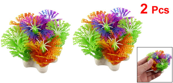 2 Pcs Assorted Color Plastic Plant Ornament 2.3