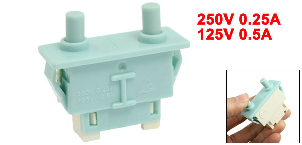Blue Plastic Housing NC 250V 0.25A Refrigerator Door Switch
