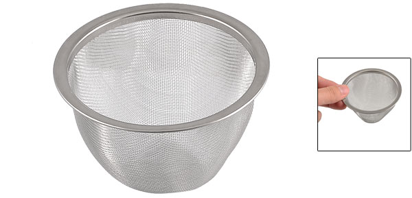Teapot 80mm Diameter Stainless Steel Mesh Tea Leaves Spice Strainer Basket