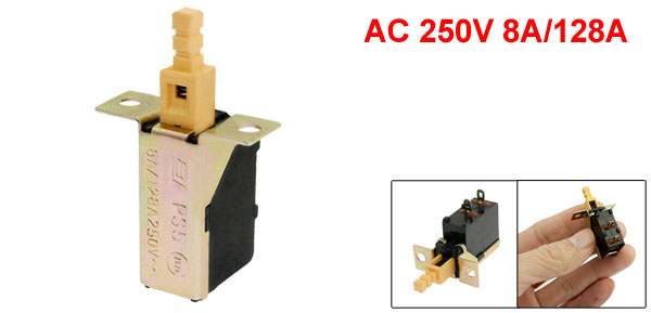 Replacement AC 250V 8A/128A Push Button DPST Power Switch for Range Hood