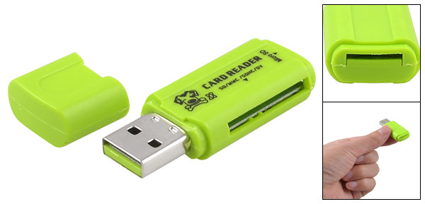 USB 2.0 Interface Micro SD TF T-flash Memory Card Reader Green