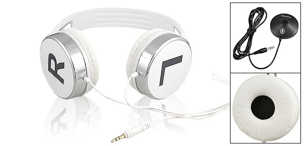 Kanen KM870 3.5mm Headset Headphones Earphones w Mic White for MP4 MP5 PC