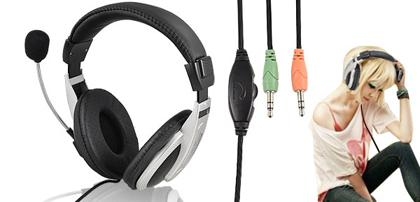 KM-770 Wired 3.5mm Headphone with Microphone for PC Notebook