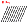 10 Pcs High Speed Steel 1.8mm Diameter Tip Straight Shank Twist D...