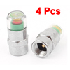 4 Pcs Car Safety Warning Air Pressure Tire Monitor Indicator Valve Cap 2.4 Bar