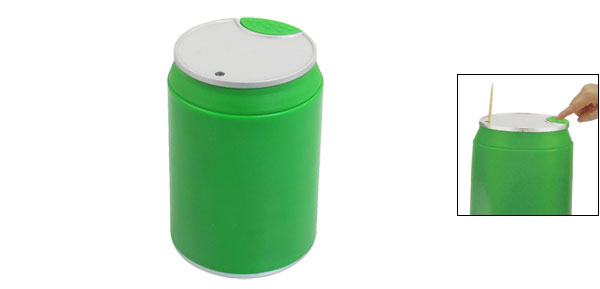 Pressed Green Aluminum Cylindrical Shape Automatic Toothpick Holder