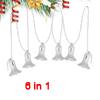 Xmas Plastic Silver Tone 6 Bells Pendant Christmas Tree Hanging O...