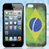 Retro Style Brazil National Flag Hard Back Case Cover for Apple i...
