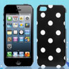 White Polka Dots Black Phone Hard Back Case Cover for Apple iPhon...