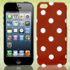 White Polka Dots Red Phone Hard Back Case Cover for Apple iPhone ...