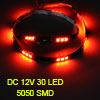 Auto Car Interior Red 5050 SMD 30 LED Flexible Strip Light Lamp 6...