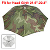 Elastic Headband Camouflage Pattern Sun Rain Umbrella Hat Cap for...