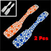 2 Pcs Tri Color Plastic Handle Soft Shoe Boot Clothes Brush