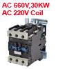 CJX2-4011 660V 34A 30KW 3 Poles 3P NO NC DIN Rail AC Contactor 22...