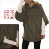 Lady Coffee Color Half Dolman Sleeve Pullover Design Loose Knitti...