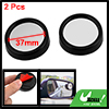 Auto Black Round 36mm Convex Rear View Blind Spot Mirrors 2 Pcs