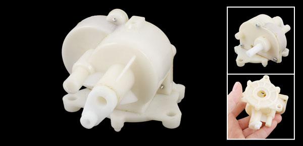 Household Electric Fan Spare Part Beige Plastic Gear Box