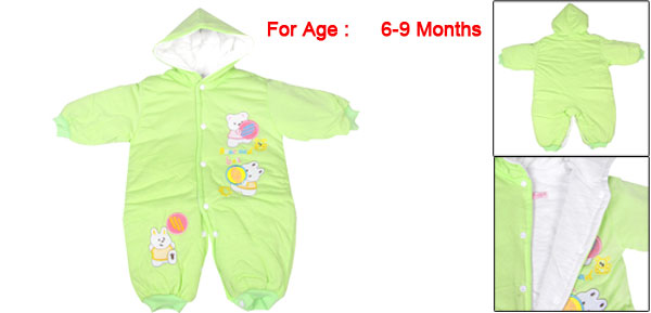Toddler Baby 6-9 Months Gap One Piece Jumpsuit Bodysuit Winter Outwear Green
