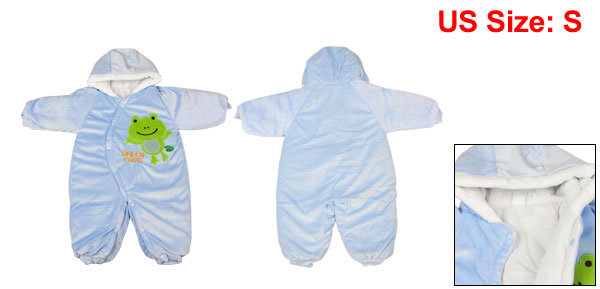 Toddler Baby 6-9 Months Gap One Piece Jumpsuit Bodysuit Winter Outfit Blue