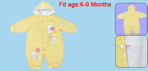 Toddler Baby 6-9 Months Gap One Piece Jumpsuit Bodysuit Winter Outwear Yellow