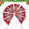 1.5M Long Santa Claus Print Merry Christmas Triangle Flag Hanging...