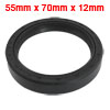 Black Nitrile Rubber Dual Lips Oil Shaft Seal TC 55mm x 70mm x 12...