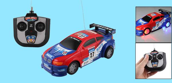 Remote Control Manipulated Blue Red Radio Car Toy Children Gift