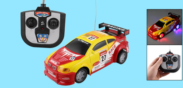 Remote Control Manipulated Yellow Red Radio Car Toy for Children