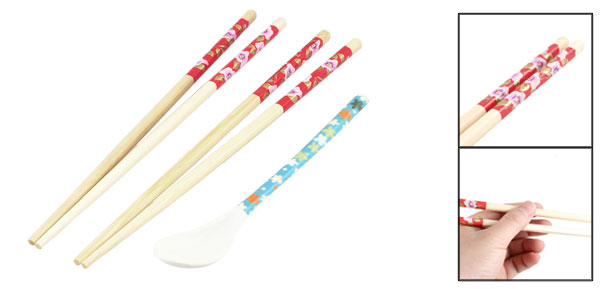 Kitchen Round Tip Wooden Chopsticks Tableware 9.4