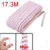 Pants Trousers 5mm Width White Fuchsia Square Pattern Elastic Str...