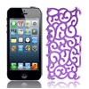 Purple Hollow Out Palace Flower Hard Back Cover Case for iPhone 5...