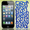 Royal Blue Hollow Out Palace Flower Hard Back Cover Case for iPho...