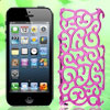Pink Hollow Out Palace Flower Hard Back Case Cover for iPhone 5 5...