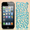 Sky Blue Hollow Out Palace Flower Hard Back Cover Case for iPhone...