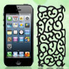 Black Hollow Flower Hard Plastic Back Case Cover for Apple iPhone 5 5G