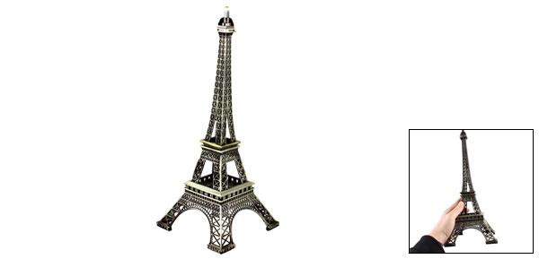 Bronze Tone Metal Paris Miniature Eiffel Tower Model Souvenir Decoration 13