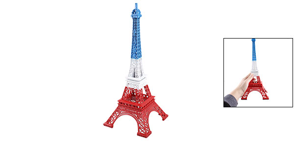 Red White Blue Metal Paris Miniature Eiffel Tower Model Souvenir Decoration 13