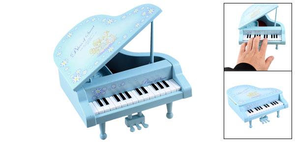 Plastic Interest Developing Piano Music Box Mini Model Gift Blue