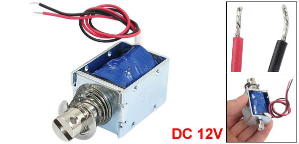DC 12V 5.6Ohm 1kg Force 10mm Stroke Open Frame Electric Linear Solenoid