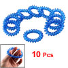 Woman Clear Dark Blue Coiled Telephone Wire Plastic Ponytail Hold...