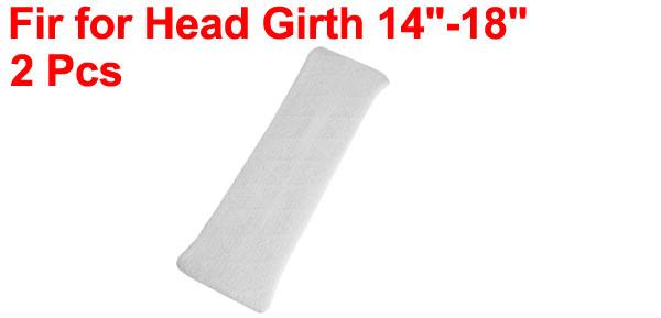 Household Bathing Elastic Fabric Headband Hair Band White 2 Pcs for Ladies