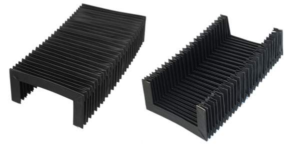 Black 800mm x 160mm x75mm Flexible Accordion Dust Cover for Machine