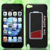 Black Low Battery Pattern IMD Hard Back Case Cover for Apple iPod Touch 5 5G