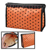 Orange Black Lace Dots Meshy Zippered Rectangular Makeup Cosmetic...