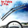 "2 Pcs Frameless Windshield Flat Wiper Blade Black 21"" for Fabia"