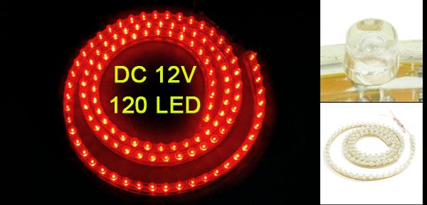 Car Auto Flexible PVC Red 120-LED Light Lamp 120cm