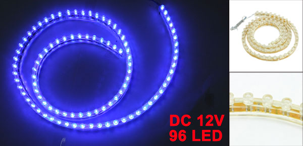 Car Auto Flexible PVC Blue 96-LED Strip Light Lamp 96cm