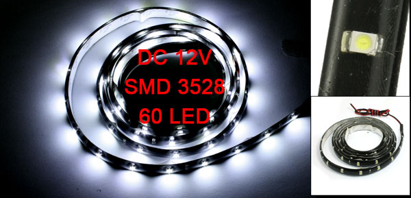 Car Auto DC 12V White 1210 3528 SMD 110-LED Strip Light Lamp 120cm
