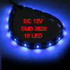 Car Auto DC 12V Blue 1210 3528 SMD 15-LED Strip Light Lamp 30cm